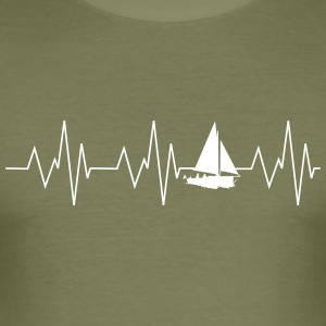 Heartbeat Sailing - Slim Fit T-shirt herr