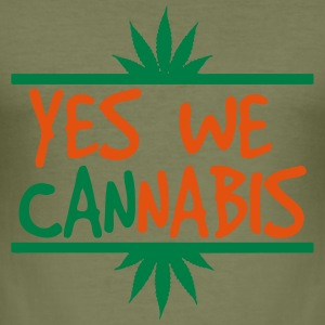 cannabis - Slim Fit T-skjorte for menn