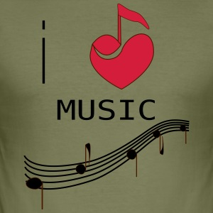I_LOVE_MUSIC - Herre Slim Fit T-Shirt