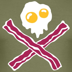 Eggs'n Bacon - Slim Fit T-skjorte for menn