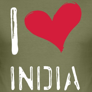I love India - Männer Slim Fit T-Shirt