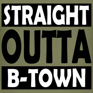 Straight Outta B-Town - Herre Slim Fit T-Shirt