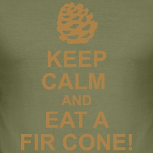 Keep Calm pine cones - Men's Slim Fit T-Shirt