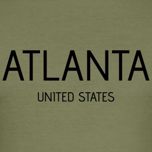 Atlanta - Männer Slim Fit T-Shirt
