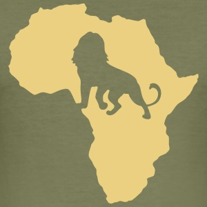 Afrikas djurliv Lion Lion Wildlife Safari Savannah - Slim Fit T-shirt herr