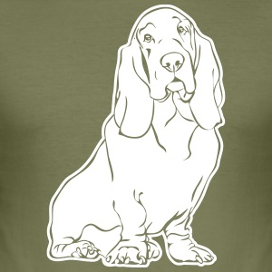 BASSET HOUND sitting - Men's Slim Fit T-Shirt