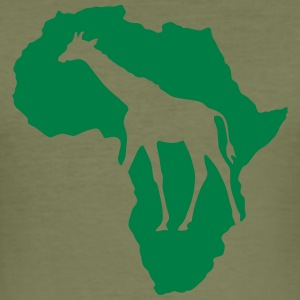 Afrika Wildlife Giraffe Wildlife Safari Savannah - Herre Slim Fit T-Shirt