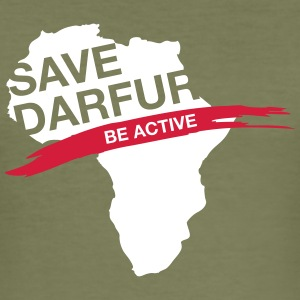 Save Darfur. Be Active! - Men's Slim Fit T-Shirt