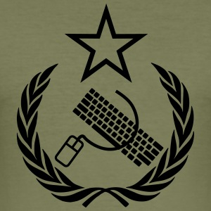 The keyboard and mouse Communist - Geek Flag - Men's Slim Fit T-Shirt