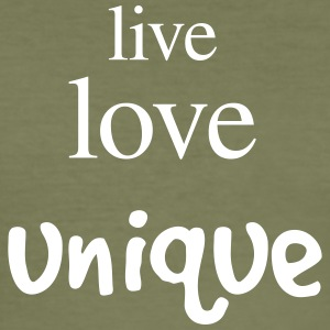 live love unique - Männer Slim Fit T-Shirt