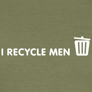 Ich recycle Männer - Männer Slim Fit T-Shirt