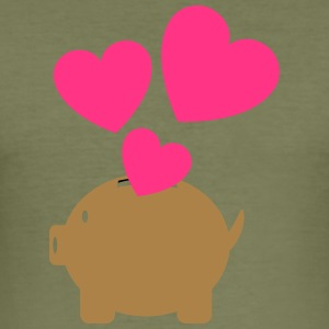Piggy Bank With Heart - Tee shirt près du corps Homme