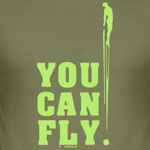 you can fly GREEN SIDE - Men's Slim Fit T-Shirt