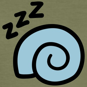 escargot Sleeping - Tee shirt près du corps Homme