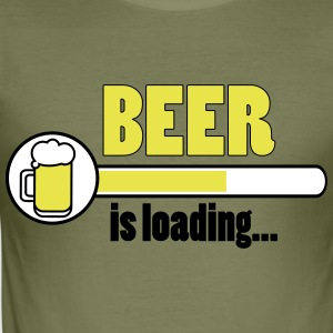 Bier wordt geladen ... - slim fit T-shirt