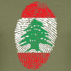LEBANON 4 EVER COLLECTION - Men's Slim Fit T-Shirt