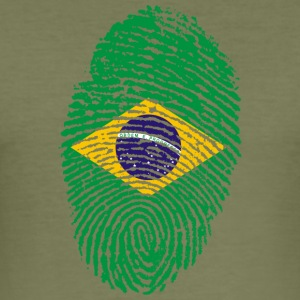 IN LOVE WITH BRAZIL - Männer Slim Fit T-Shirt