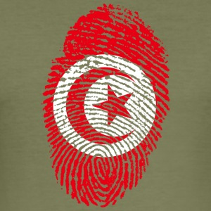 IN LOVE WITH TUNISIA - Männer Slim Fit T-Shirt