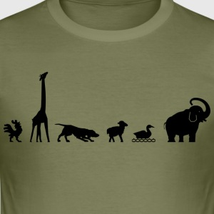 Zoo for animal lovers (Hahn Giraffe Elephant ...) - Men's Slim Fit T-Shirt