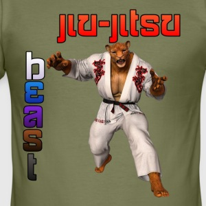 Jiu-Jitsu Beast Jaguar - Men's Slim Fit T-Shirt
