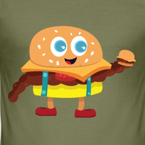 söt Burger - Slim Fit T-shirt herr