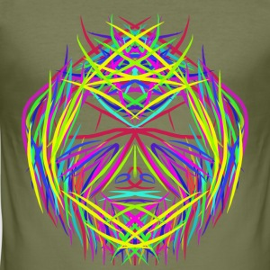 face trippy abstract psychedelic colorful - Men's Slim Fit T-Shirt