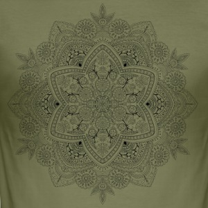 Mandala hand drawn, - Men's Slim Fit T-Shirt