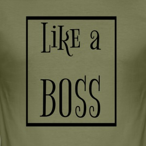 som en boss - Herre Slim Fit T-Shirt