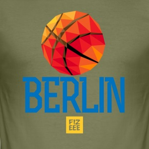 Berlin Let`s GOOOO - Männer Slim Fit T-Shirt