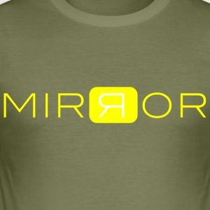 MIRROR gul - Slim Fit T-shirt herr