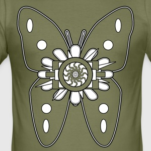 BUTTERFLY - Slim Fit T-skjorte for menn