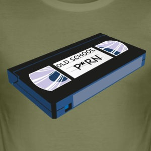 OLD SCHOOL P*RN vhs - slim fit T-shirt