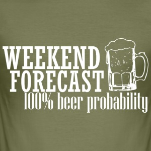 WEEKEND PROGNOS 100% ÖL vit - Slim Fit T-shirt herr