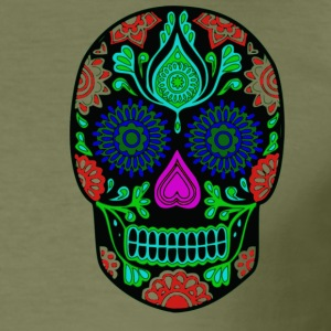 mexican skull - Men's Slim Fit T-Shirt