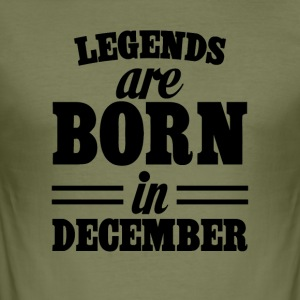 Legends zijn geboren in december - slim fit T-shirt