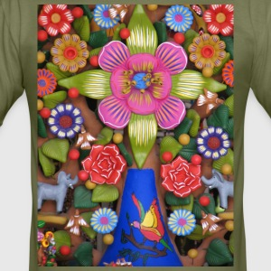 arbol_de_la_vida_ - Slim Fit T-skjorte for menn