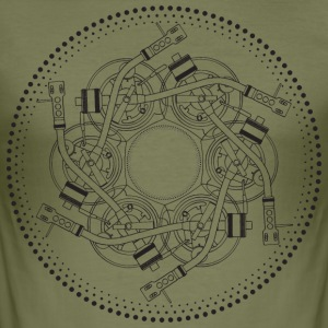 mandala draaitafel 1210 - slim fit T-shirt