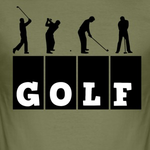 Golf - Männer Slim Fit T-Shirt