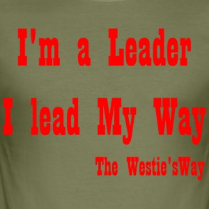 I lead My Way Red - Men's Slim Fit T-Shirt