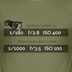 gestern_hatten_wir - Men's Slim Fit T-Shirt