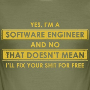 software Engineer - Slim Fit T-skjorte for menn
