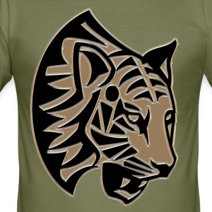 Tiger huvud mosaik - Slim Fit T-shirt herr
