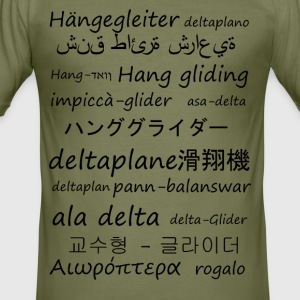Hang gliding in several languages - Men's Slim Fit T-Shirt