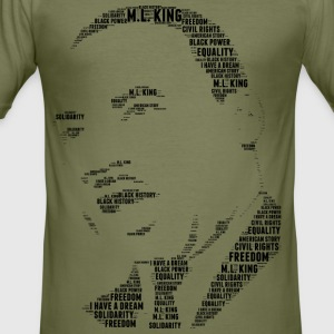 Martin Luther King stencil word cloud - slim fit T-shirt