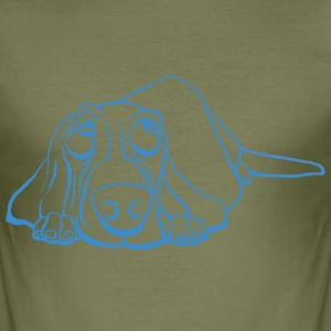 Basset kreeg de Blues - slim fit T-shirt