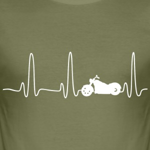 EKG HEART LINE CHOPPER vit - Slim Fit T-shirt herr