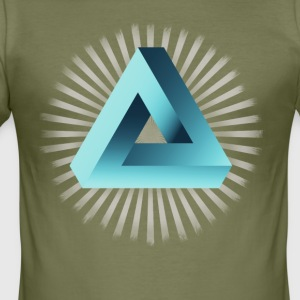 illusion illuminati Escher optisk illusion nørd - Herre Slim Fit T-Shirt