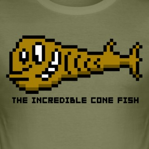 Cone Fish - Men's Slim Fit T-Shirt