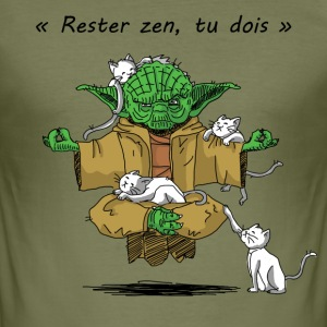 Yoda Yoga - Slim Fit T-skjorte for menn