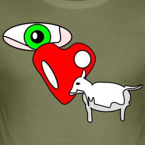 Eye luv Ewe - Slim Fit T-skjorte for menn